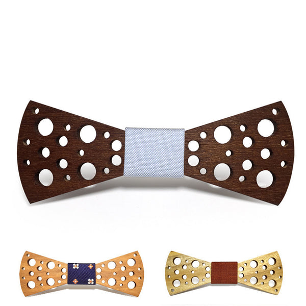 Creative Dots Wooden Bow Tie
