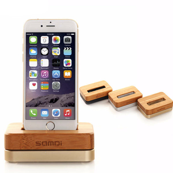 Wooden & Aluminum Charger Dock for iPhone