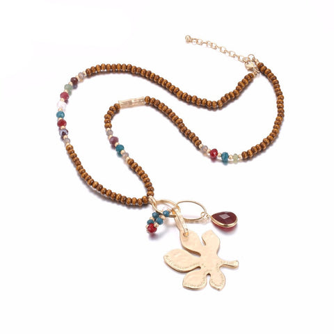 Long Wooden Necklace: Ethnic Style