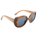 Wooden Sunglasses: Zebra (Polarized, for women)