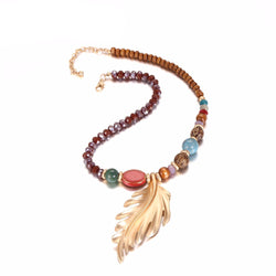 Ethnic Wooden Necklace: Light as a Feather
