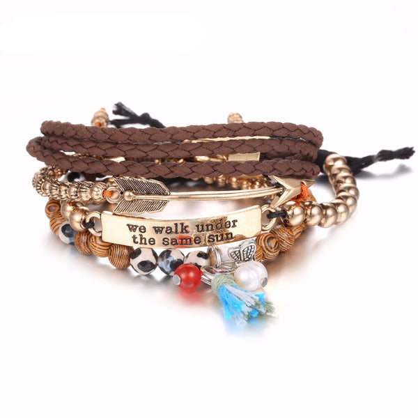 Ethnic Multilayer Bracelet: We Walk Under the Same Sun