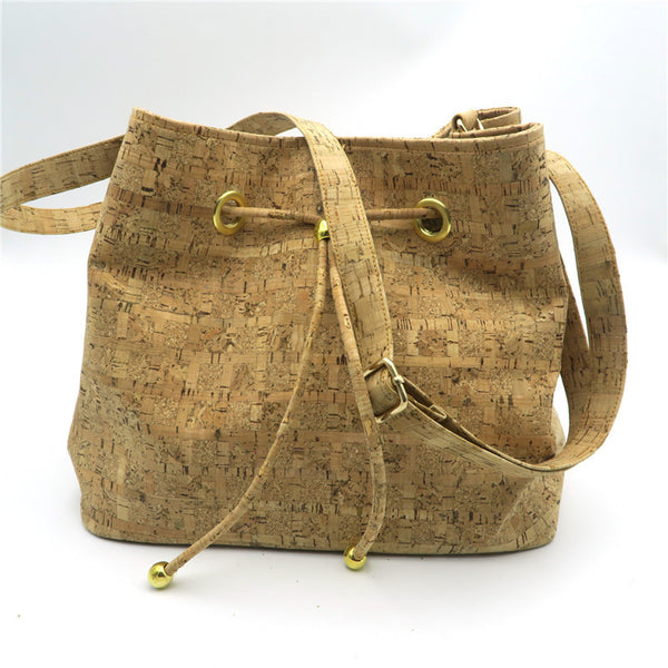 Natural Cork Bucket Bag