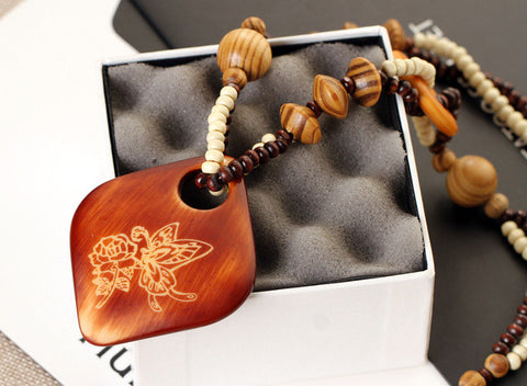 Handmade Necklace: Wooden Nature