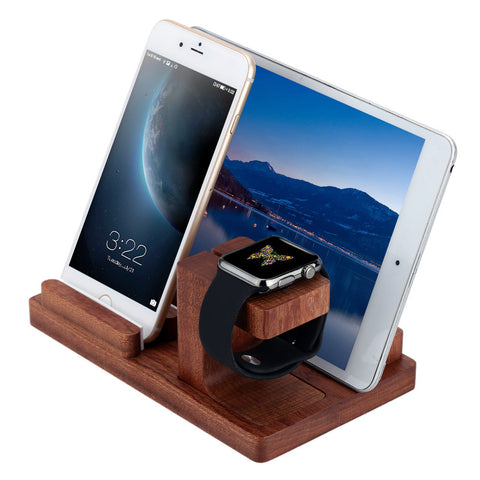 Wooden Holder for Apple Watch & Smartphone & Tablet