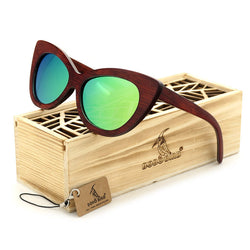 Wooden Sunglasses for Ladies: Cat Eyes  (Polarized)