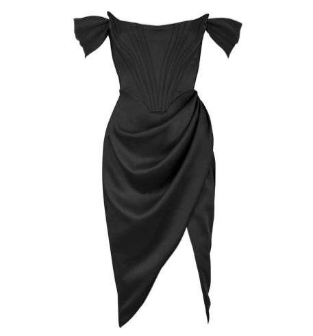 50s Black Strapless Pin Up Evening Dress - Ma Penderie Vintage