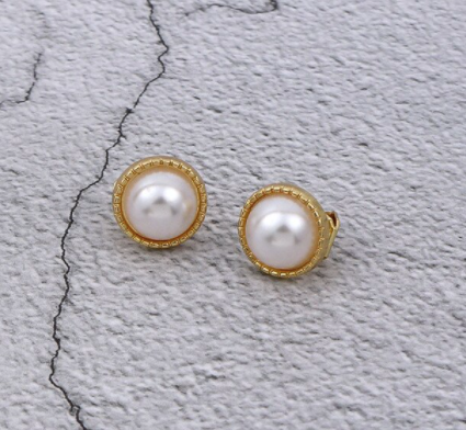 60s Fancy Pearl Clip-on Earrings