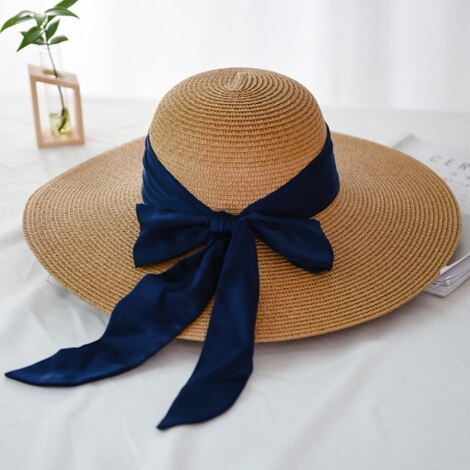 40s Straw Hat Natural Romantic Knot - Ma Penderie Vintage