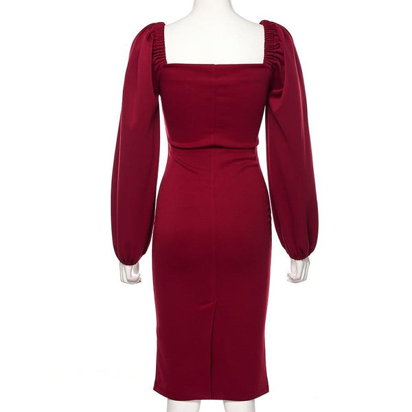 60s Red Pin Up Evening Dress - Ma Penderie Vintage