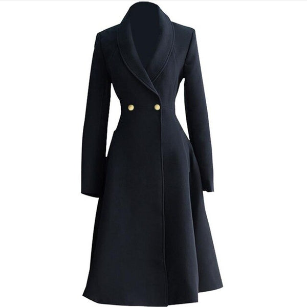 50s Pin Up Coat New Look Black - Ma Penderie Vintage