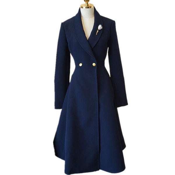 50s Pin Up Coat New Look Midnight Blue - Ma Penderie Vintage