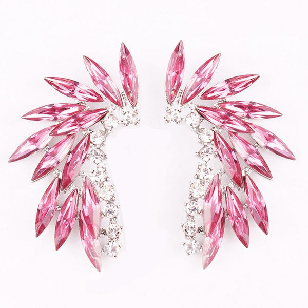 50s Pink Cocktail Climbing Earrings - Ma Penderie Vintage