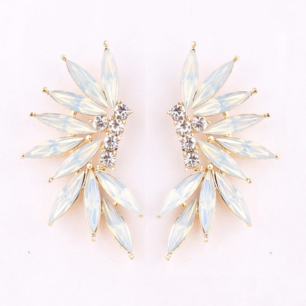 50s Cocktail Opal Climbing Earrings - Ma Penderie Vintage