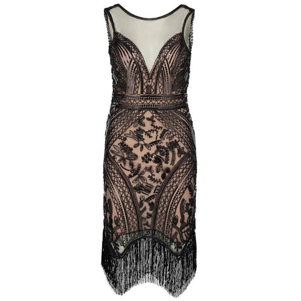 20s Sequin Gatsby Evening Dress - Ma Penderie Vintage