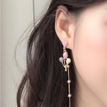 60s Retro Cat And Balloons Earrings - Ma Penderie Vintage