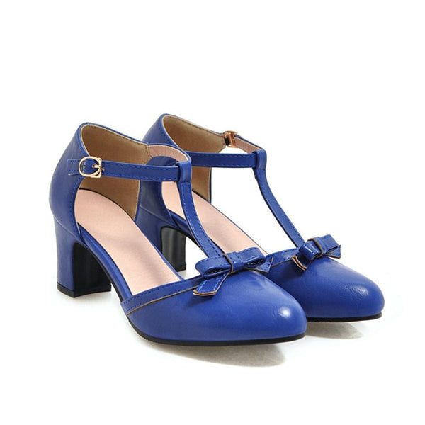 40s Rock Heel Shoes A Billy Blue - Ma Penderie Vintage