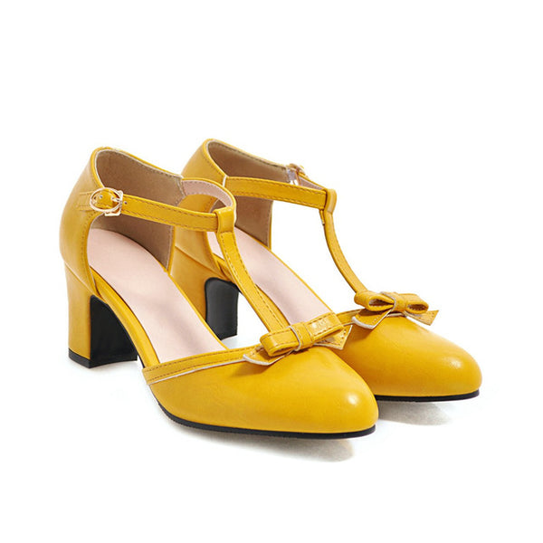 40s Rock Heel Shoes A Billy Yellow - Ma Penderie Vintage