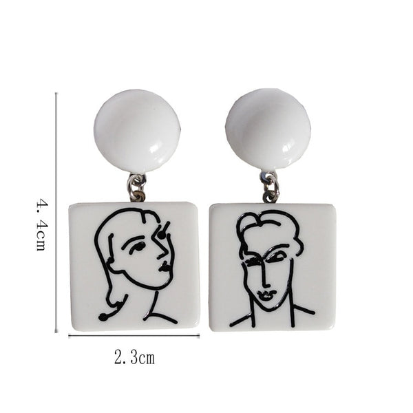 60s Retro Picasso Style Earring
