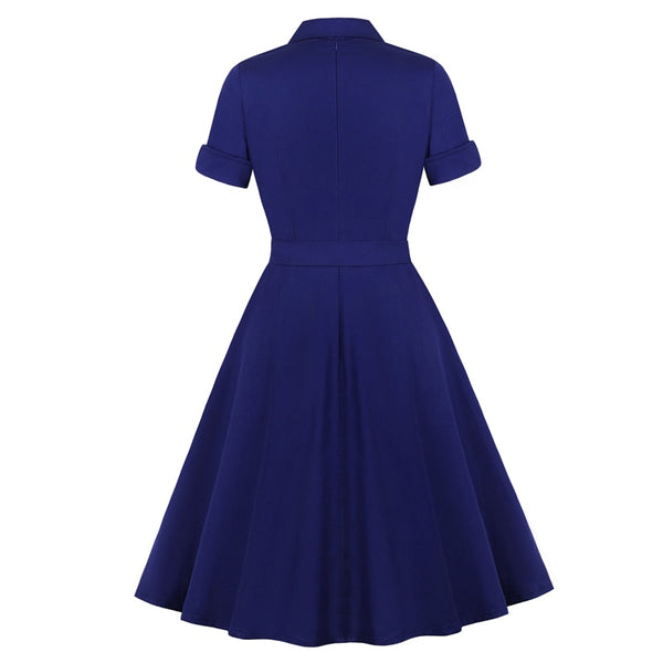 50s Retro Flare Dress With Pleats - Ma Penderie Vintage