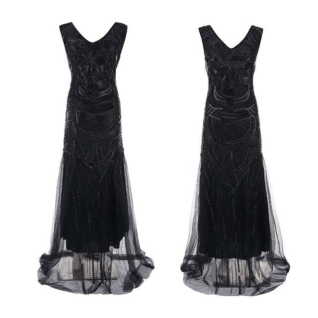 20s Gatsby Evening Dress