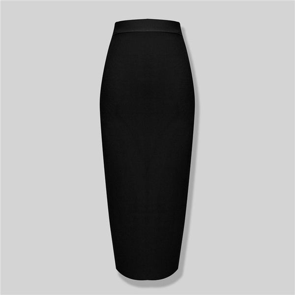 50s Bettie Page Pin Up Black Pencil Skirt - Ma Penderie Vintage