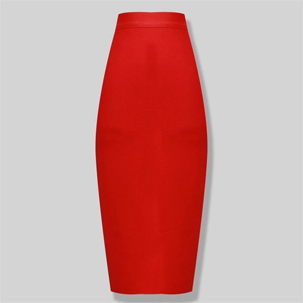 50s Bettie Page Pin Up Red Pencil Skirt - Ma Penderie Vintage