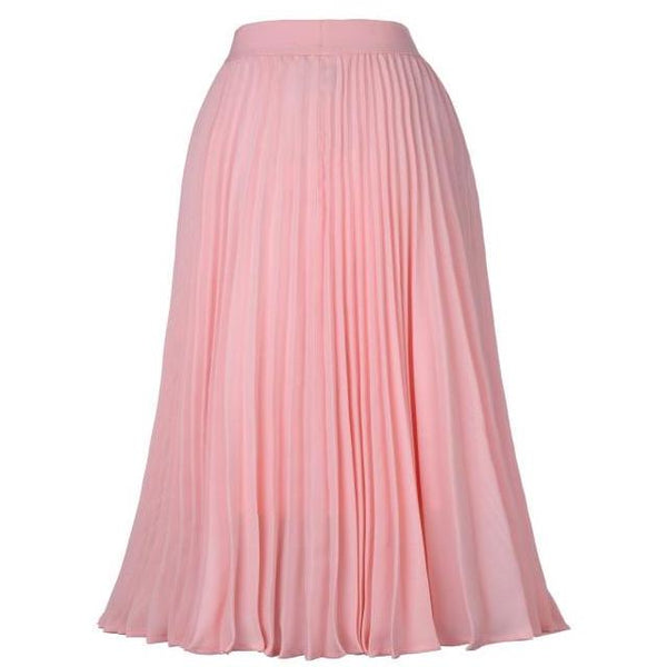 40s Pleated Midi Skirt Rock A Billy Rose - Ma Penderie Vintage