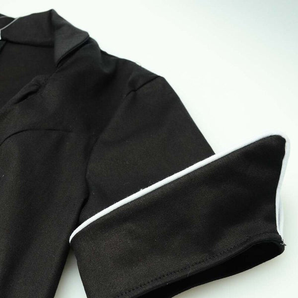 50s Glamorous Bettie Page Black Evening Dress - Ma Penderie Vintage