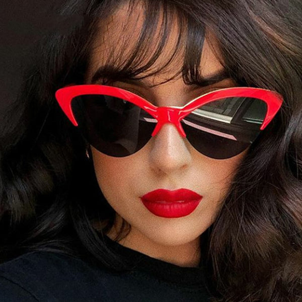 50s Cat Eye Pin Up Sunglasses Red - Ma Penderie Vintage