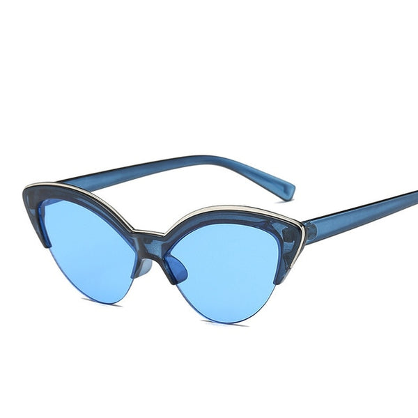50s Cat Eye Pin Up Sunglasses Blue - Ma Penderie Vintage