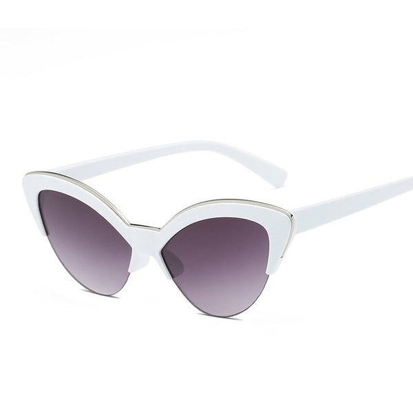 50s Cat Eye Pin Up Sunglasses White - Ma Penderie Vintage