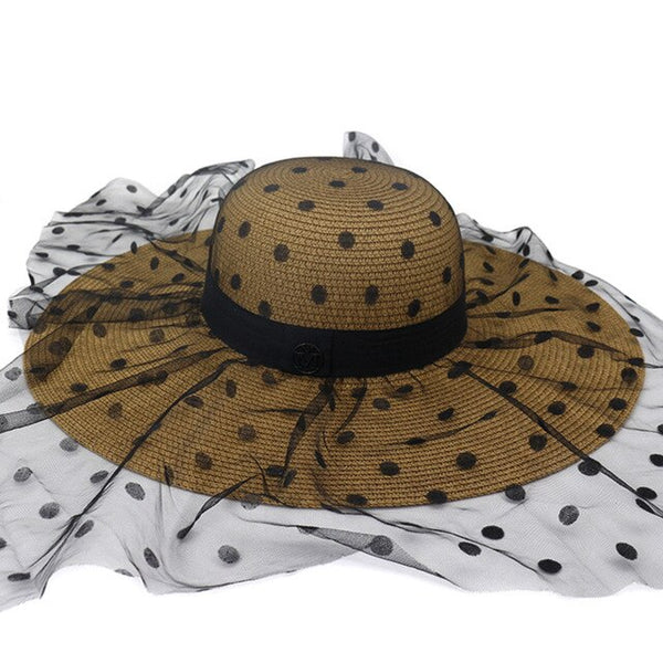 50s Vintage Glamor Hat A Pois Coco Brown -Ma Penderie Vintage