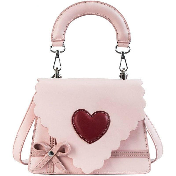 60s Mini Lady Pink Heart Pin Up Bag - Ma Penderie Vintage