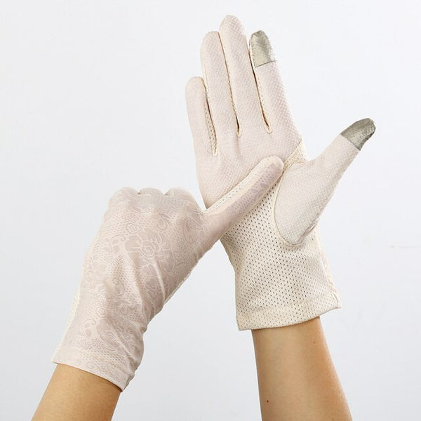 50s Pin Up Retro Lace Gloves