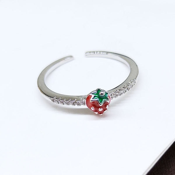 60s Retro Strawberry Ring - Ma Penderie Vintage