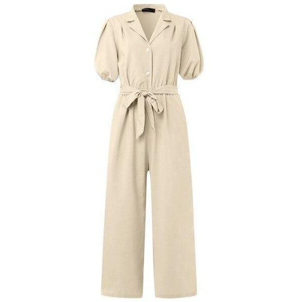 40s Retro White Women's Workwear Jumpsuit - Ma Penderie Vintage