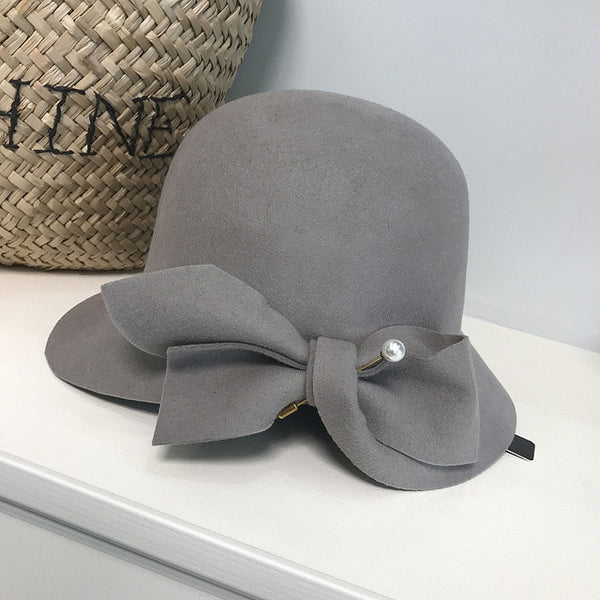 30s Glamor Gatsby Gray Hat - Ma Penderie Vintage