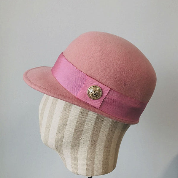 Sixties Hat Mod Twiggy Pink - Ma Penderie Vintage