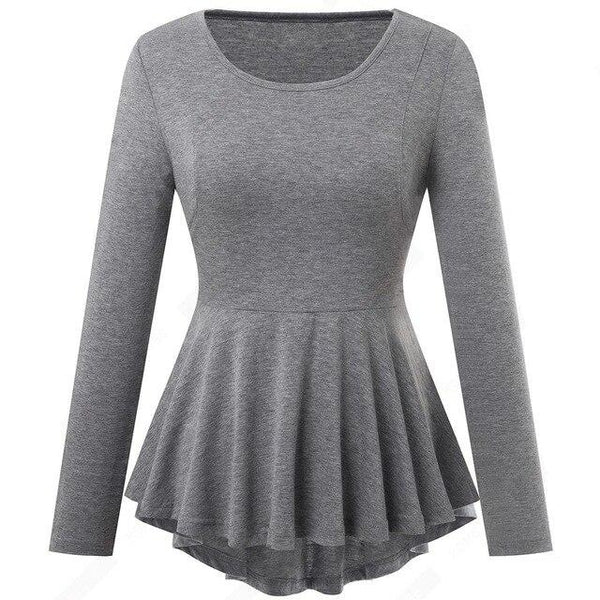60s Peplum Business Retro Rock Top A Billy Gray - Ma Penderie Vintage
