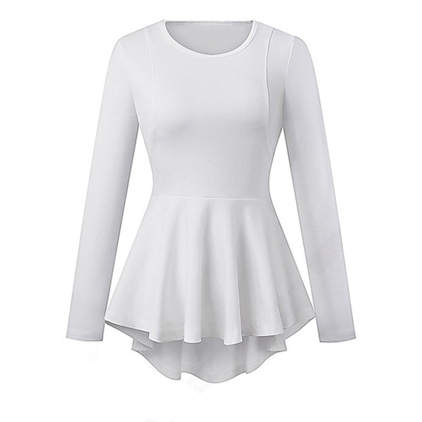 Sixties Peplum Business Retro Rock Top A Billy White - Ma Penderie Vintage