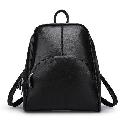 50s Pin Up Retro Leather Backpack Black - Ma Penderie Vintage