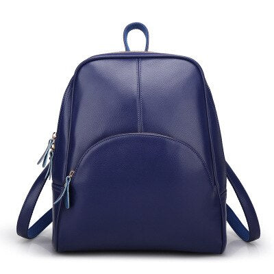 50s Blue Retro Pin Up Leather Backpack - Ma Penderie Vintage