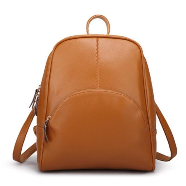 50s Brown Retro Pin Up Leather Backpack - Ma Penderie Vintage