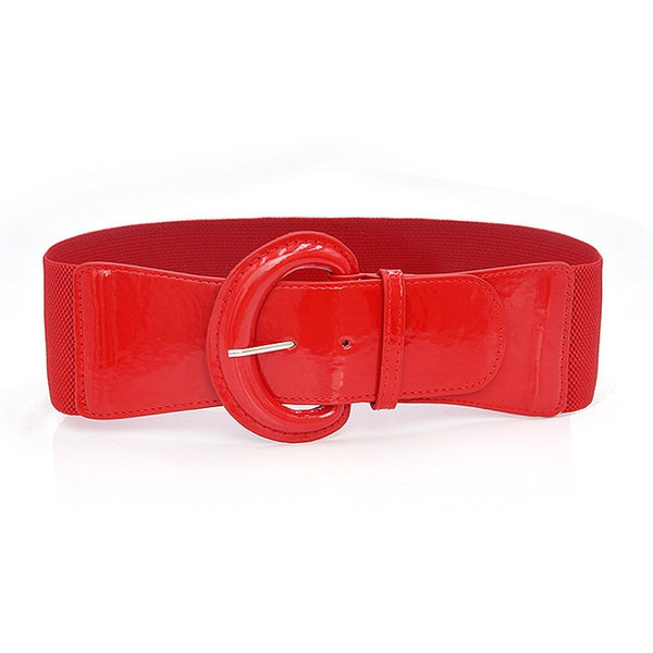 50s Sandy Pin Up Red Belt - Ma Penderie Vintage