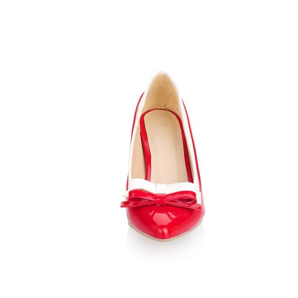 50s Bi-color Pin Up Bettie Page Red Pump - Ma Penderie Vintage