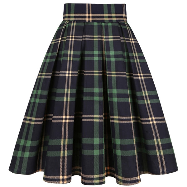 40s Classic Pleated Circular Skirt - Ma Penderie Vintage