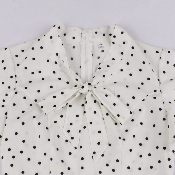 40s Ivory Retro Butterfly Sleeve Peplum Top - Ma Penderie Vintage