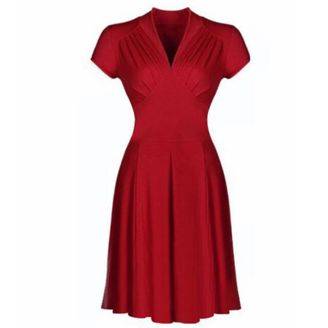 50s Classic Pin Up Flare Dress