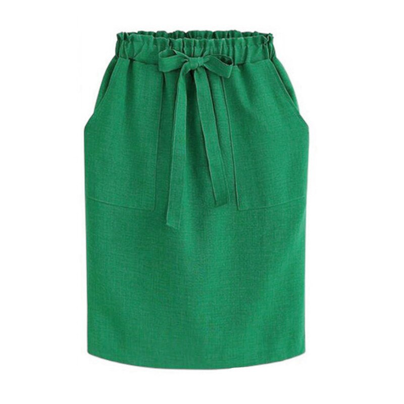 60s Retro Double Pockets Green Skirt - Ma Penderie Vintage